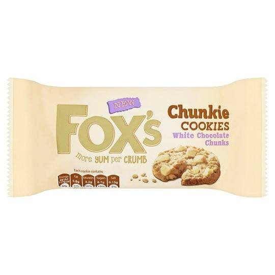 Grocery Delivery London - Fox'sWhite Chocolate Chunky Cookies 180g same day delivery