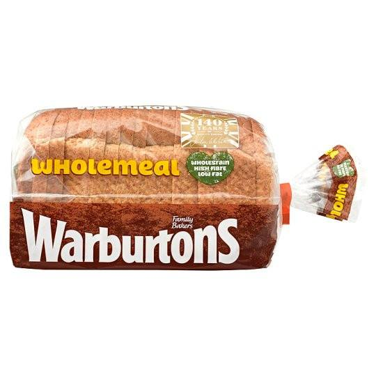 Grocemania Grocery Delivery London| Warburtons Wholemeal Thick Bread 800g
