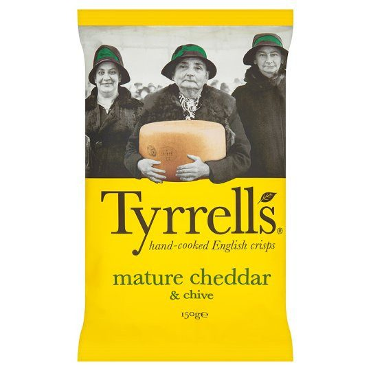 Grocemania Grocery Delivery London| Tyrrells Crisps Mature Cheddar And Chive 150g