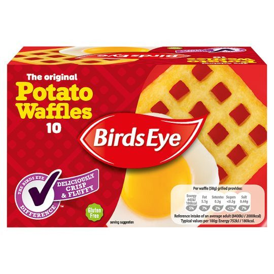 Grocemania Grocery Delivery London| Birds Eye 10 Potato Waffles 567g