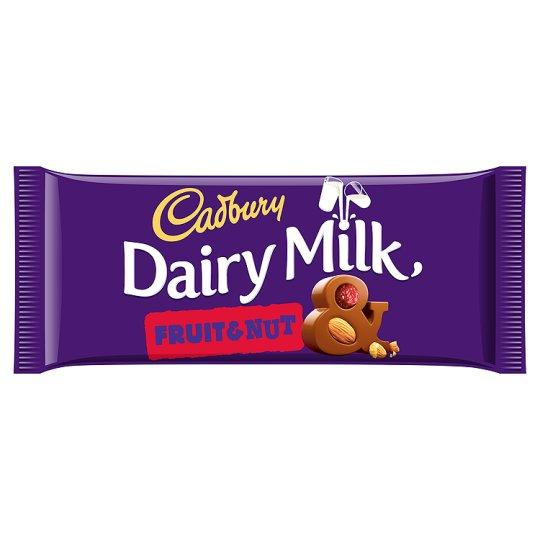 Grocemania Grocery Delivery London| Cadbury Dairy Milk Fruit & Nut 95g
