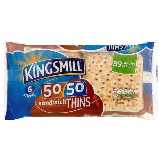 Grocemania Grocery Delivery London| Kingsmill Sandwich Thins 6 Pack
