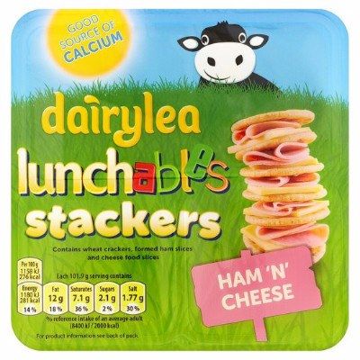 Grocemania Grocery Delivery London| Dairylea Lunchables Stackers 101.9g