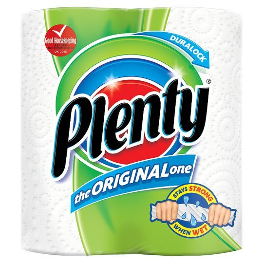 Grocemania | Plenty White 2 Kitchen Rolls | Online Grocery Delivery