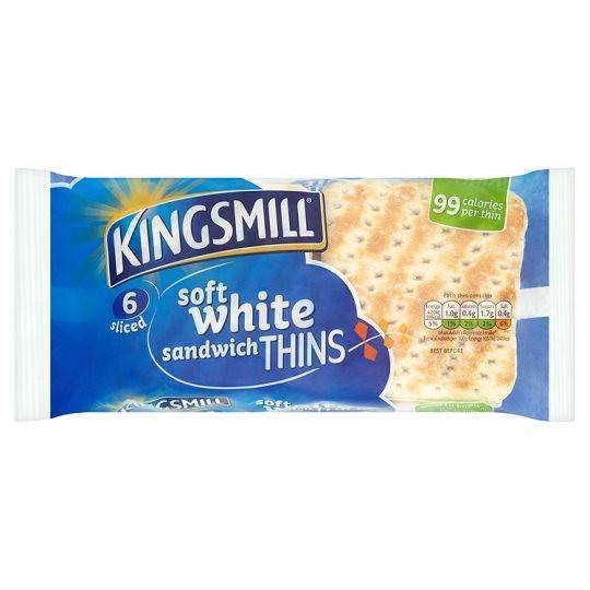 Grocery Delivery London - Kingsmill Sandwich Thins 6 Pack same day delivery