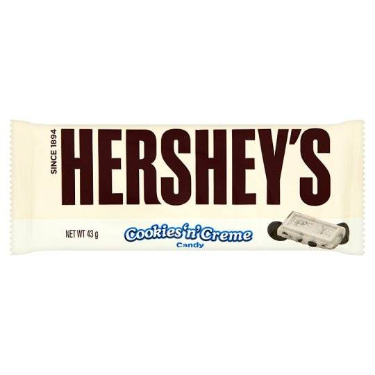 Grocery Delivery London - Hersheys Cookies & Creme Bar 43g same day delivery