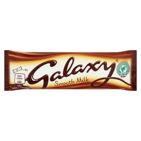 Grocemania Grocery Delivery London| Galaxy Milk Chocolate 42g