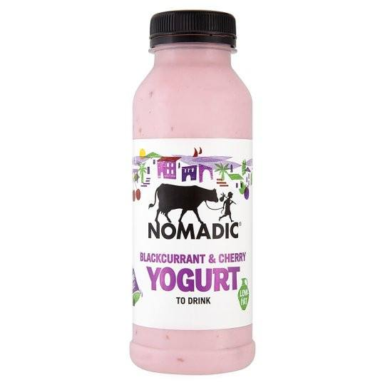 Grocemania | Nomadic Blackcurrant And Cherry Yoghurt To Drink 330ml | Online Grocery Delivery