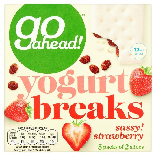 Grocemania Grocery Delivery London| Go Ahead Strawberry Yogurt Breaks Cereal Bars 5 Pack 177g