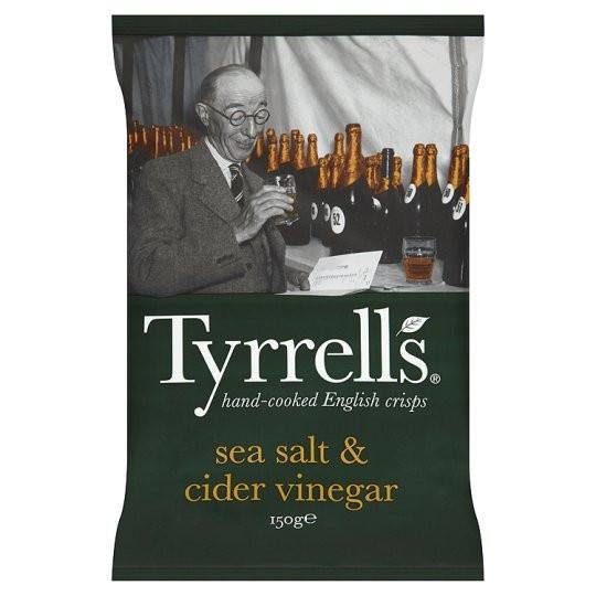 Grocery Delivery London - Tyrrells Crisps Sea Salted&Cider Vinegar 150g same day delivery