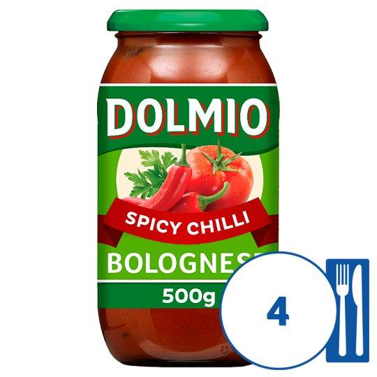 Grocemania Grocery Delivery London| Dolmio Bolognese Intense Chilli Pasta Sauce 500g