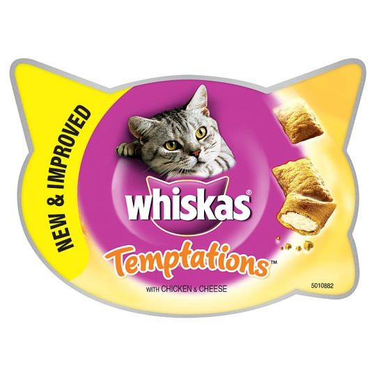 Grocemania Grocery Delivery London| Whiskas Temptations Chicken And Cheese 60g