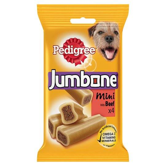 Grocery Delivery London - Pedigree Jumbone Small Beef 4 Chews 180g same day delivery