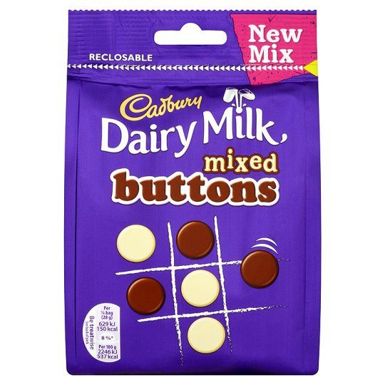 Grocemania Grocery Delivery London| Cadbury Dairy Milk Buttons Mix 115g