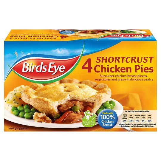 Grocemania Grocery Delivery London| Bird's Eye Chicken Pie x4 Pack 620g