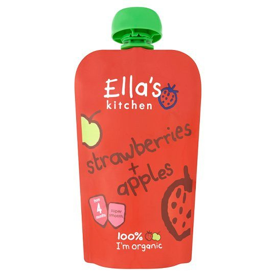 Grocemania | Ella's Kitchen Strawberries Plus Apples 120g | Online Grocery Delivery