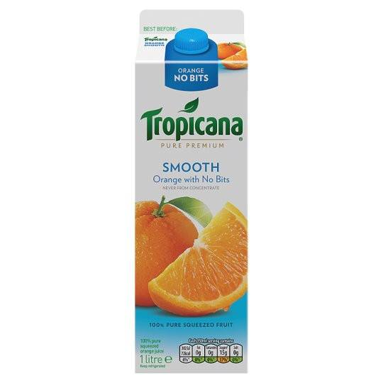Grocemania Grocery Delivery London| Tropicana Orange Juice Smooth 1L