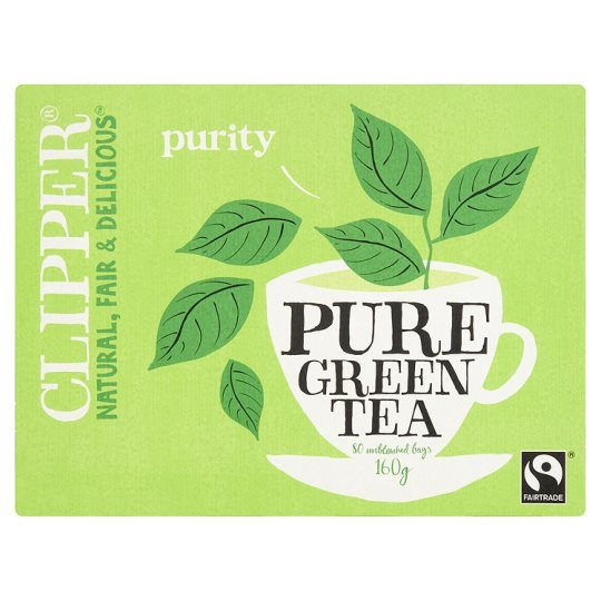Grocemania Grocery Delivery London| Clipper Pure Green Tea Bags 80s 160g