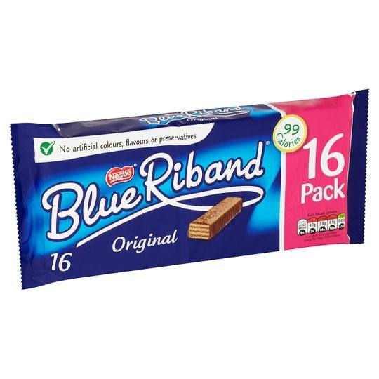 Grocery Delivery London - Nestle Blue Riband Biscuit 16 Pack 308.8g same day delivery