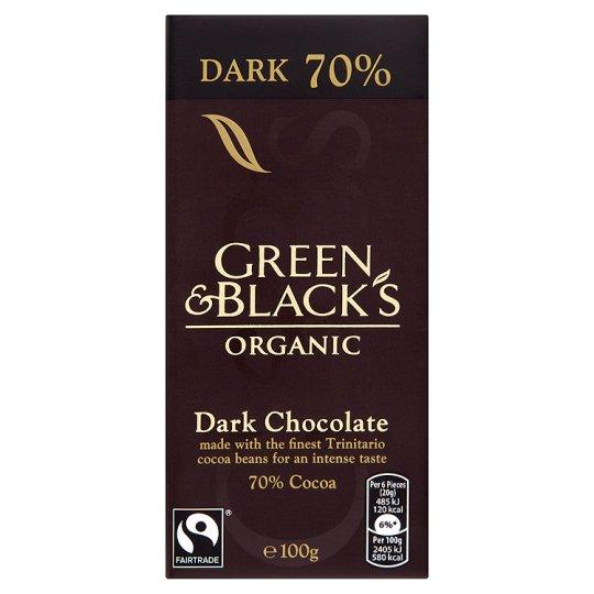 Grocery Delivery London - Green & Black's Organic Dark 70% 100g same day delivery