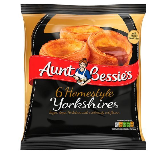 Grocemania Grocery Delivery London| Aunt Bessie's 6 Homestyle Yorkshires 210g
