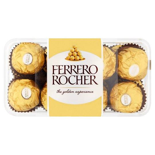Grocery Delivery London - Ferrero Rocher 16 Pieces Boxed Chocolates 200g same day delivery