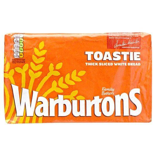 Grocery Delivery London - Warburtons Toastie Sliced White Bread 400g same day delivery