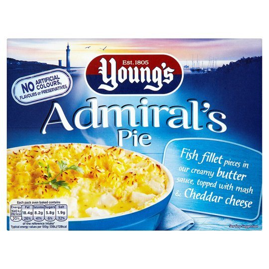 Grocemania Grocery Delivery London| Young's Admiral's Pie 340g
