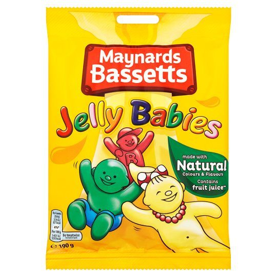 Grocery Delivery London - Maynards Bassets Jelly Babies 165g same day delivery