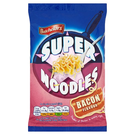 Grocemania Grocery Delivery London| Batchelors Super Noodles Bacon 100g