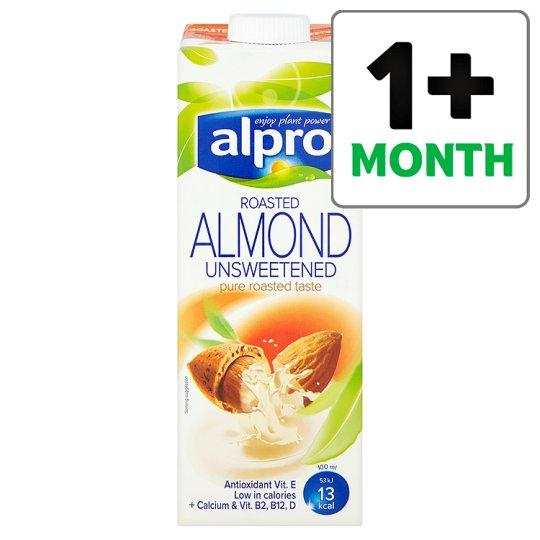 Grocemania Grocery Delivery London| Alpro Almond Roasted Unsweetened Longlife Milk Alternative 1L