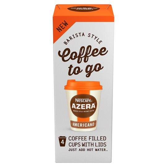 Grocemania Grocery Delivery London| Nescafe Azera Coffee To Go Americano 4 Cup X 3.2G