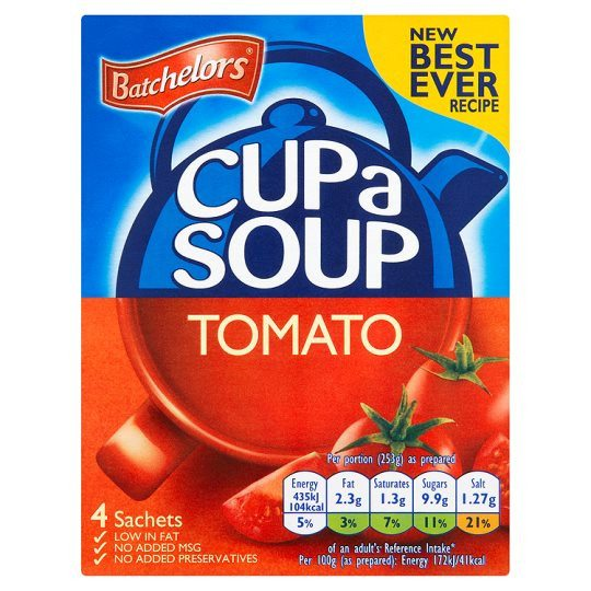 Grocemania Grocery Delivery London| Batchelors Cup A Soup Tomato 4 Pack 93g