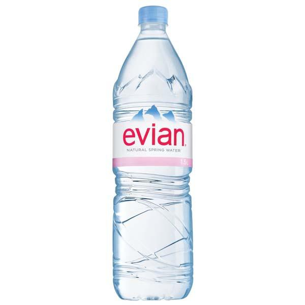 Grocery Delivery London - Evian Water 1.5L same day delivery