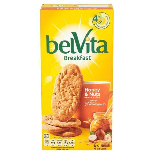 Grocemania Grocery Delivery London| Belvita Honey And Nuts Biscuits 300g