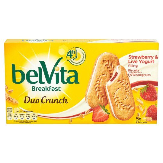 Grocemania Grocery Delivery London| Belvita Strawberry And Yoghurt Crunch 253g