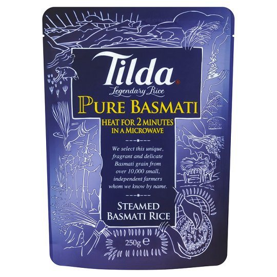 Grocemania Grocery Delivery London| Tilda Pure Steamed Basmati Rice Classic 250g
