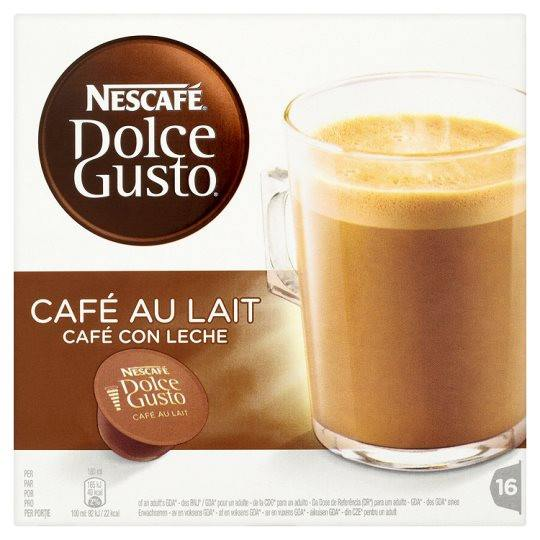 Grocery Delivery London - Nescafe Dolce Gusto Cafe Au Lait Coffee Pods 16 Servings 160g same day delivery