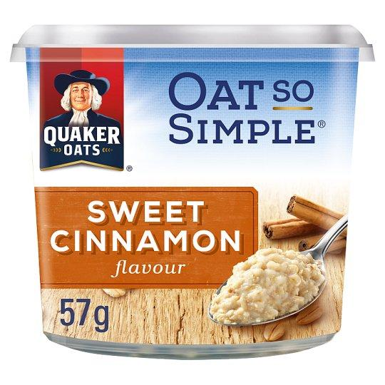 Grocemania Grocery Delivery London| Quaker Oat So Simple Sweet Cinnamon Porridge Pot 57g