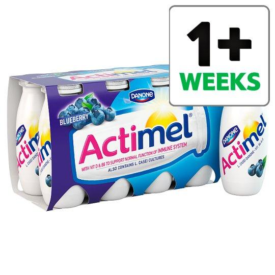 Grocemania Grocery Delivery London| Actimel Blueberry Yogurt Drink 8 X100g