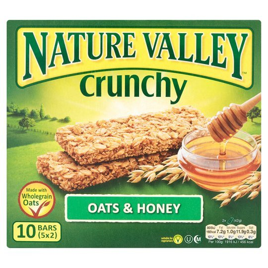 Grocemania Grocery Delivery London| Nature Valley Crunchy Bars Oat & Honey 210g