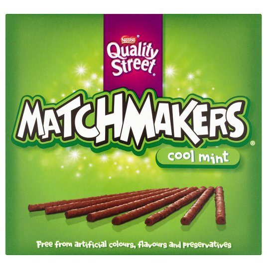 Grocery Delivery London - Quality Street Matchmakers Cool Mint Box 130g same day delivery