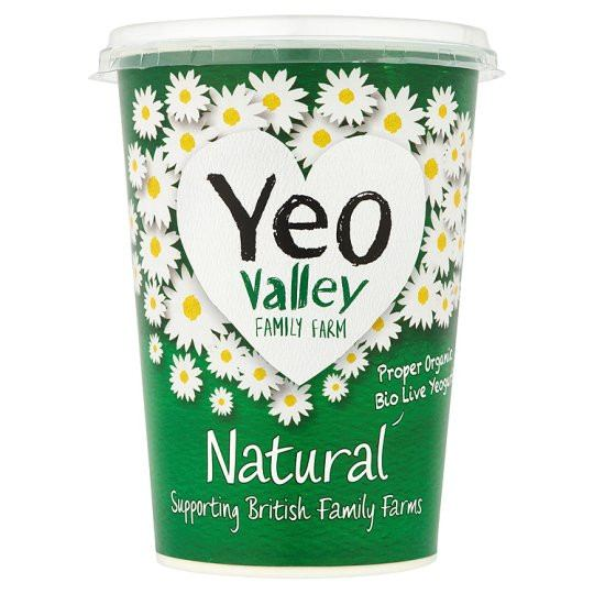 Grocemania Grocery Delivery London| Yeo Valley Natural Yoghurt 500g