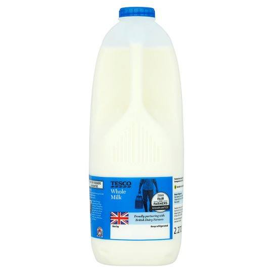 Grocery Delivery London - Tesco British Whole Milk 1/2/4/6 Pints same day delivery