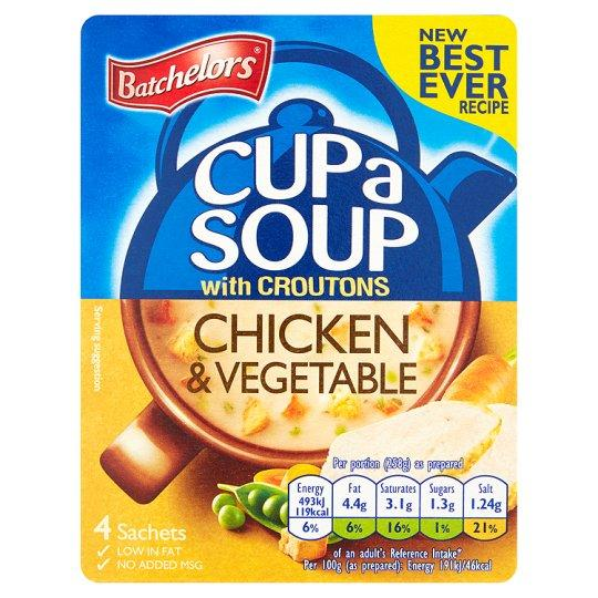 Grocemania Grocery Delivery London| Batchelors Cup A Soup Chicken And Vegetable Croutons 4 Pack 110g