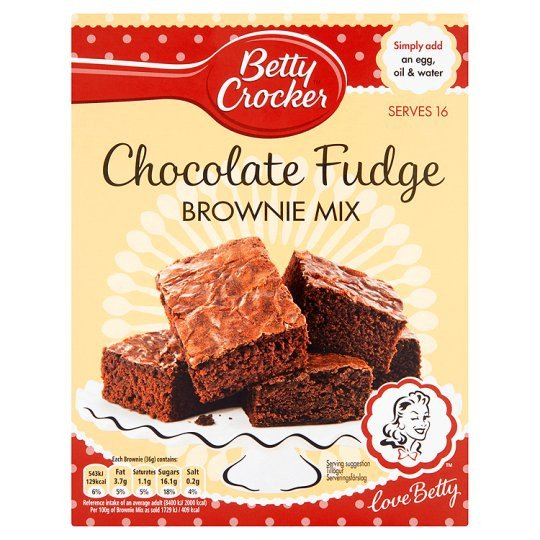 Grocemania Grocery Delivery London| Betty Cooker Chocolate Fudge Brownie Mix 415g