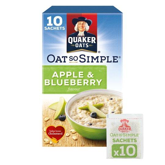 Grocemania Grocery Delivery London| Quaker Oat So Simple Apple And Blueberry Porridge 10 X36g