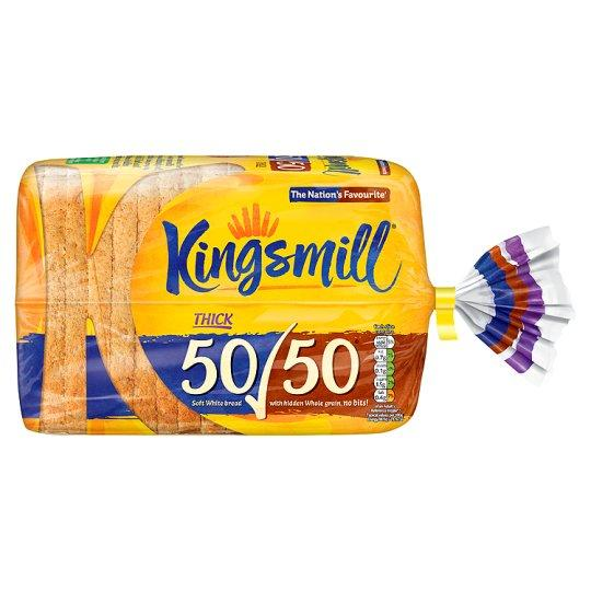 Grocery Delivery London - Kingsmill 50/50 Thick Bread 800g same day delivery