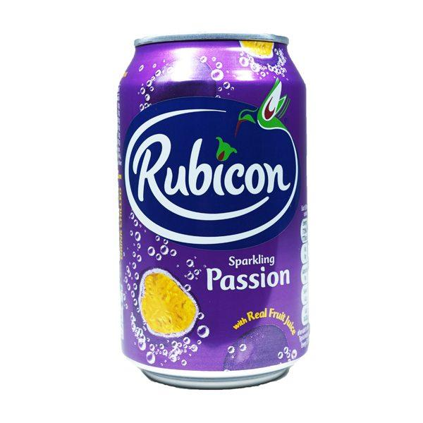 Grocery Delivery London - Rubicon Sparkling Passion Fruit 330ml same day delivery