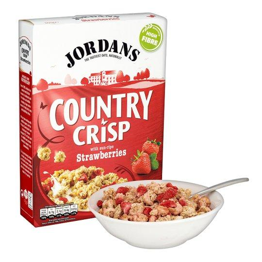 Grocemania Grocery Delivery London| Jordans Country Crisp Strawberry Cereal 400g